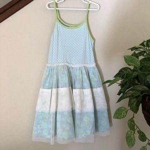Matilda Jane Tulle Baby Blue Striped Tank Dress 8